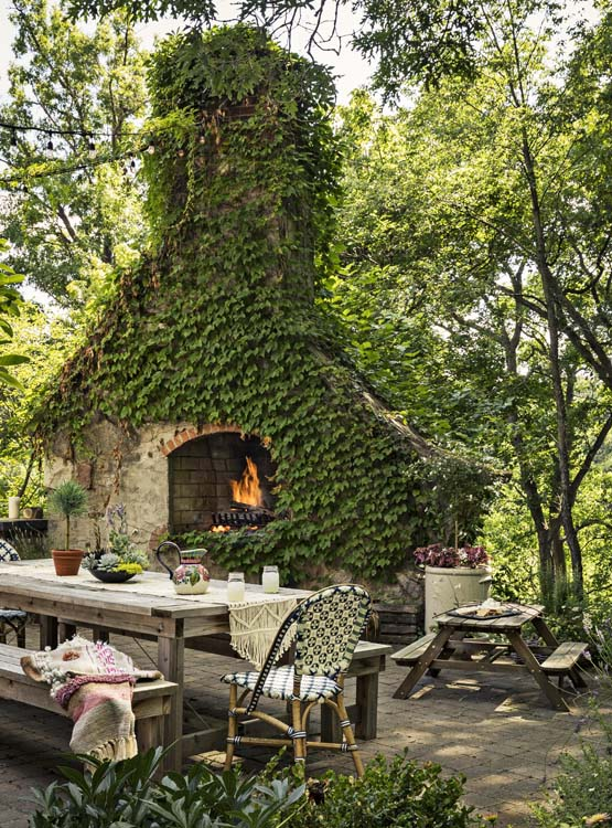 All in the Family - Outdoor Fireplace