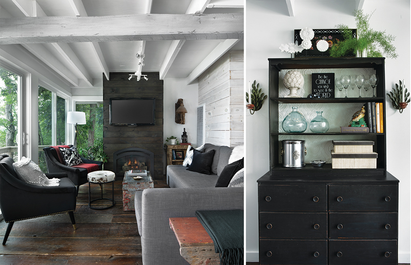 Dawn Jacobs - cottage living area and cabinetry