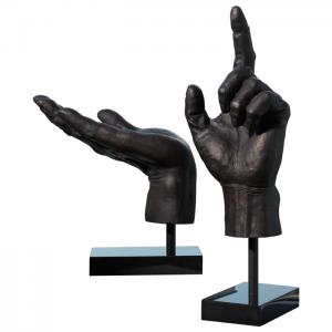 Hand Sculpture upward hand and open hand