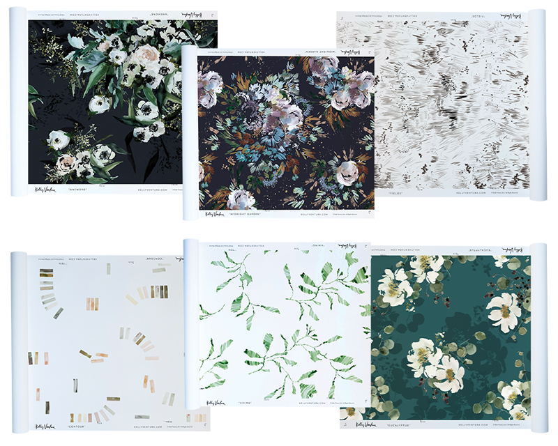 Kelly Ventura Wallpaper Swatches